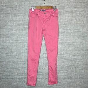 Levis Girls Sz 10 Pink Denim Skinny Leggings